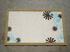 painting rug, she made it crafts (8)