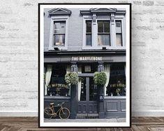 Street Print, London Print, Street Photography, Fashion Photography, Urban Landscape, London Street, Street Hotel Print, Printable Art