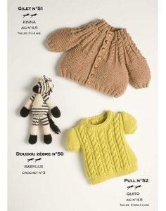Modèle Doudou zébre CB11-50- Patron tricot gratuit