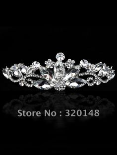 JE 171022 Elegant Clear Rhinestones Wedding Bridal Tiara Crown-in Hair Jewelry from Jewelry on Aliexpress.com