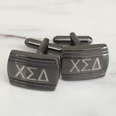 ... Greek Letter cufflinks. The perfect frat gift for fraternity brothers