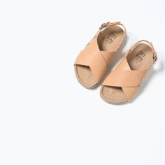 LEATHER CROSS-STRAP SANDALS-SHOES-BABY GIRL | 3 months-3 years-KIDS | ZARA United States