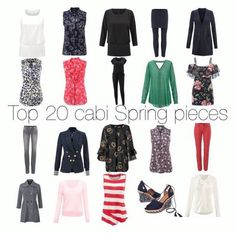 "The ""Top 20"" from cabi's first two months this Spring.  Get yours @ jeanettemurphey.cabionline.com, open 24/7"