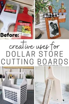 Dollar Store Cutting Board Crafts - The Crazy Craft Lady Dollar Tree Decor, Dollar Tree Crafts, Dollar Tree Fall, Diy Crafts Dollar Store, Dollar Tree Cricut, Dollar Tree Finds, Diy Home Crafts, Diy Crafts To Sell, Home Craft Ideas