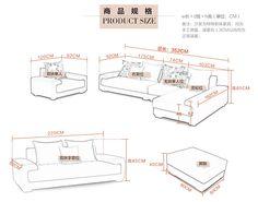 Robinson grid size fabric sofa combination of modern apartment living room sofa minimalist sofa washable G819- Taobao
