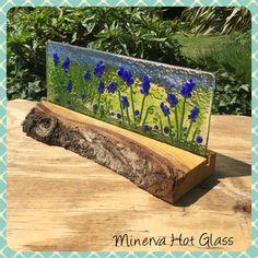 Image result for fusing glass blue flower