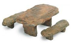 River Slate Table & Bench - My Fairy Gardens