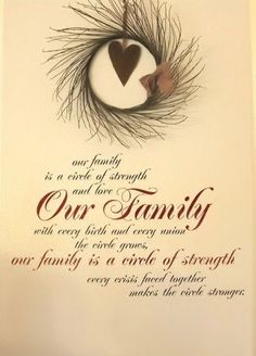 quote wall, circl, families