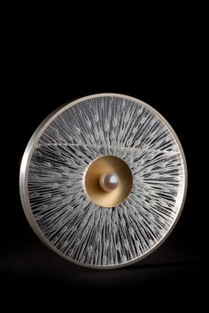 Eimear Conyard, Artist, Centered 2, silver, 18kt gold, perspex, pearl
