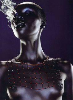 Jean-Baptiste Mondino: Alek Wek. Even tho she is nude she is so beutifull
