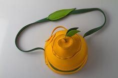 Orangentasche von Charlotte Sehmisch  Woolcore Designs auf DaWanda.com