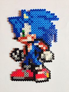 Sonic perler beads by Nathan Tardy