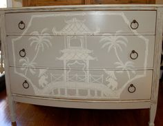 This is absolutely adorable    Child's Chinoiserie Dressercustom order by Pinktique on Etsy, $450.00