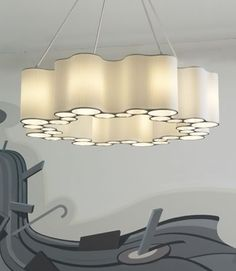 Interesting ceiling lamp by Ted Abramczyk edited by Ralph Pucci