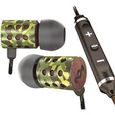 Jammin' Midnight Ravers In-Ear Headphones with Microphone and 3-Button Controller  House of Marley EM-JE023-RV  NEW!  Free Shipping on this item!