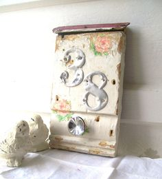 Shabby CHic Decor Antique Architect ALtered Art