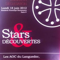 Wine tasting @ brasserie Printemps Haussmann Paris monday 18th june 2012 @LanguedocWines