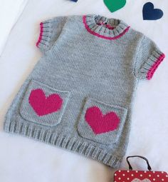 Baby Knitting Patterns Dress Small pocket tunic for Baby from La Malle to the Thousand – kostenlos