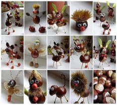 Popjes van herfstmateriaal
