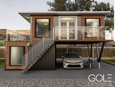 Shipping Container Homes ( Prefab Container Homes, Shipping Container Home Designs, Storage Container Homes, Container Buildings, Container House Plans, Container House Design, Shipping Containers, Smart Home Design, Sims House Design