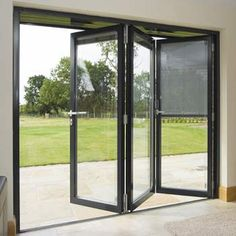 One of the most interesting principle behind accordion doors is that they are seldom made use of as actual entryways as well as exits. Most of the time, these folding barriers are made . Read Best Accordion Doors Ideas for Your House Accordion Glass Doors, Accordian Door, Grill Door Design, Garage Door Design, Glass Garage Door, Sliding Glass Door, Bifold Glass Doors, Exterior Glass Doors, Garage Doors