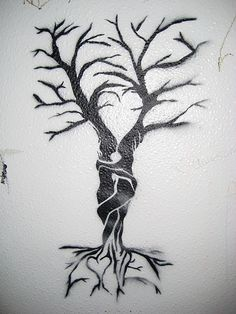 tree stencil detail - sweet You are in the right place about nature tattoo Here we offer you the most beautiful pictures - Tattoo Life, Simbolos Tattoo, Sketch Tattoo, Tree Stencil, Stencils, Nature Tattoos, Body Art Tattoos, Silhouette Couple, Tree Sketches