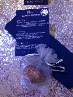 Game of Thrones Wedding - GOT theme - Wedding Favours - Dragon Eggs! Thoresby Riding Hall - Thoresby Weddings