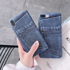 Fashion cute ins simple jeans soft silicone phone case for iphone XS MAX case for iphone X XR 6 7 8 plus cover Outfit Accessories From Touchy Style. Iphone 7 Phone Cases, Cute Phone Cases, Phone Covers, Patterned Jeans, Jeans Denim, Silicone Phone Case, Mobile Covers, Iphone Models, Iphone 8 Plus