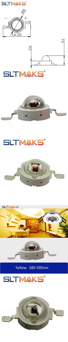 SLTMAKS High Power LED Chip LED 1W 3W 5W LEDs Yellow color 585-595nm LED Diode