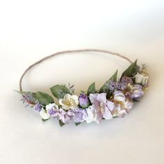 Lavender DIY Flower Crown Kit, Lavender Wedding Headband, Lavender Bridal DIY, Lavender Floral Crown
