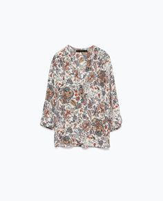 ZARA - COLLECTION AW15 - PRINTED BLOUSE