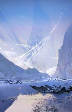 Ice Shards!, Ross Tran on ArtStation at https://www.artstation.com/artwork/v9Pga