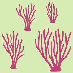 Items similar to Sea Coral Vinyl Wall Decals for Fish Ocean theme Nursery Children Baby on Etsy