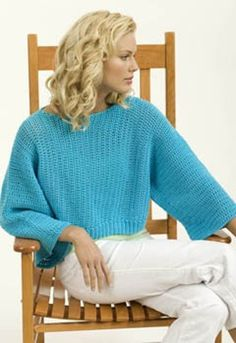 Crochet Turquoise Pullover in Tahki Yarns Cotton Classic. Discover more Patterns by Tahki Yarns at LoveKnitting. The world's largest range of knitting supplies - we stock patterns, yarn, needles and books from all of your favorite brands.