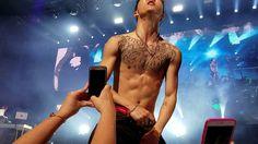 B.A.P. Bang X2 Atlanta LOE fancam  (shirtless edition)
