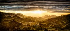 Sunset over Prince Albert Valley by Stephan Jaggy on Prince Albert, So Little Time, Hdr, Mount Everest, South Africa, February, Lights, Explore, Mountains