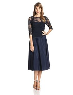 Jessica Howard Women's 3/4 Sleeve Sweetheart Neck Ruched Waist Dress, Navy, 16 Jessica Howard http://www.amazon.com/dp/B00JB9HF36/ref=cm_sw_r_pi_dp_Z7S2tb03XWA48F13
