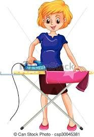 Woman ironing clothes on the ironing board vector image on VectorStock Kindergarten Worksheets, Preschool Activities, Flashcards For Kids, Decoupage Printables, School Clipart, Family Theme, How To Iron Clothes, Butterfly Wallpaper, Stories For Kids