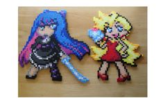 PSG Panty and Stocking Perler Bead Sprite by DelightfulEpiphany