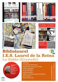 Servicios, programas y actuaciones de la biblioteca escolar del IES Laurel de la Reina de La Zubia, vía Manuel Rienda.