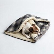 Hundeschlafsack, tartan grey
