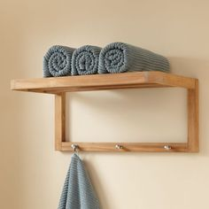 wood Bathroom Towel Rack Shelves is part of Bathroom wall shelves - Welcome to Office Furniture, in this moment I'm going to teach you about wood Bathroom Towel Rack Shelves Teak Bathroom, Bathroom Shelves For Towels, Towel Holder Bathroom, Cozy Bathroom, Towel Shelf, Towel Holders, Towel Hooks, Bathroom Ideas, Bath Towel Storage
