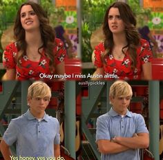 Austin and Ally. Way to be a man, Austin!