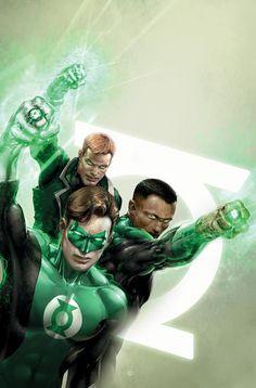 Green Lantern's - Hal Jordan, John Stewart & Guy Gardner