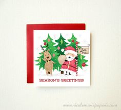 Funny Christmas Card. Santa Claus and by nicolemariepaperie, $3.00