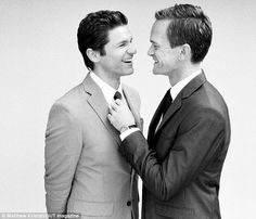 Neil Patrick Harris and David Burtka. These two are equally as adorable in person with their twins.