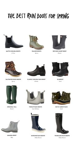The Best Spring Rain boots to help you prep for spring. Get the full list 663095086e9e