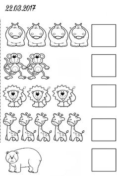Activities For Girls, English Activities, Preschool Learning Activities, Math For Kids, Kindergarten Math, Preschool Activities, Letter Worksheets For Preschool, Animal Worksheets, Coloring Books