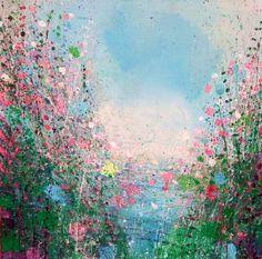 "Saatchi Art Artist Sandy Dooley; Painting, ""Sky Blue And Forest Green"" #art"