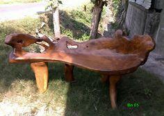 Old Teak rootwood bench